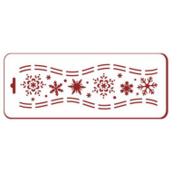Трафарет хоровод снежинок