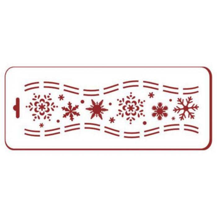 Трафарет хоровод снежинок для скрапбукинга