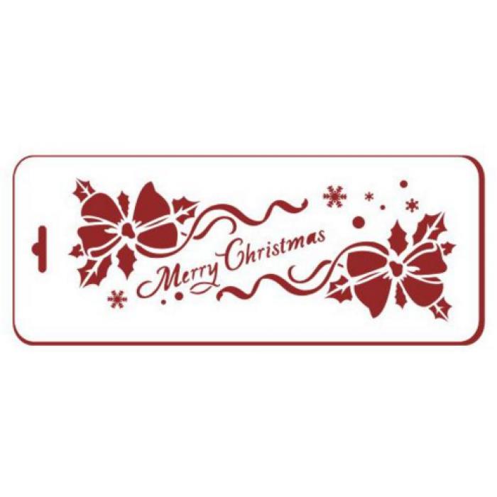 Трафарет рождественские банты для скрапбукинга