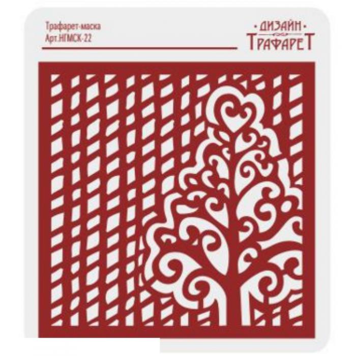 Трафарет сетка с деревом для скрапбукинга
