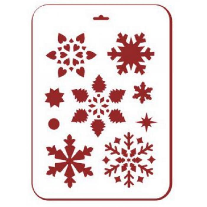Трафарет снежинки 1 для скрапбукинга