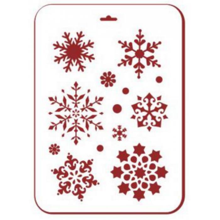 Трафарет снежинки 2 для скрапбукинга