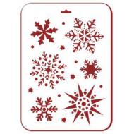Трафарет снежинки 3