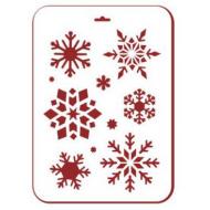 Трафарет снежинки 4