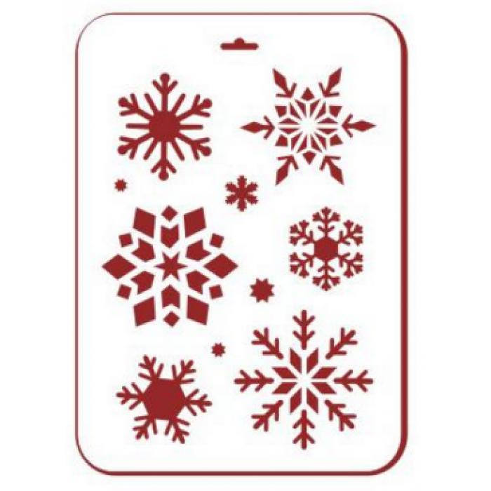 Трафарет снежинки 4 для скрапбукинга