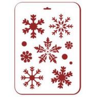 Трафарет снежинки 5