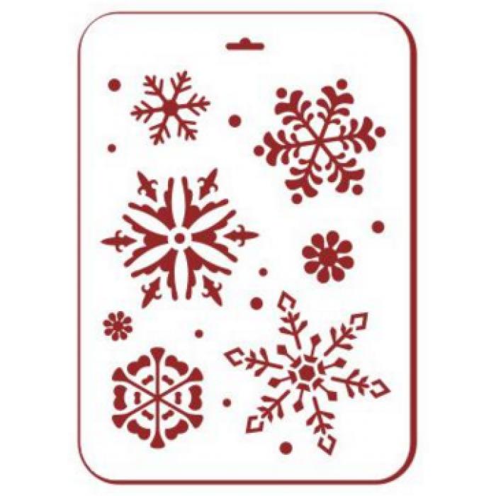 Трафарет снежинки 6 для скрапбукинга
