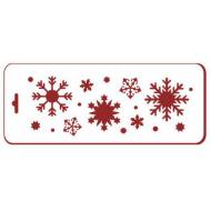 Трафарет снежинки 9