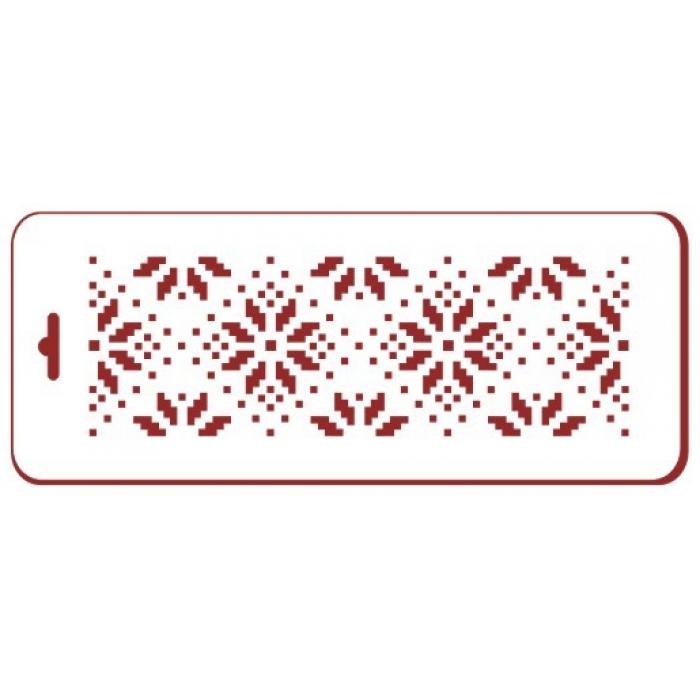Трафарет зимние узоры 3 для скрапбукинга
