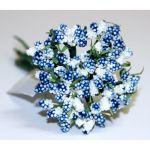 Тёмно-голубой декоративный букет