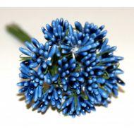 Тёмно-голубой декоративный букетик