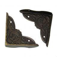 Уголок с узором античная бронза 39х39 мм