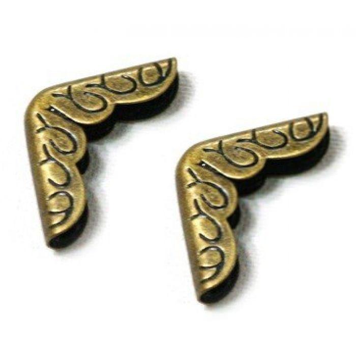 Уголок с узором античная бронза для скрапбукинга