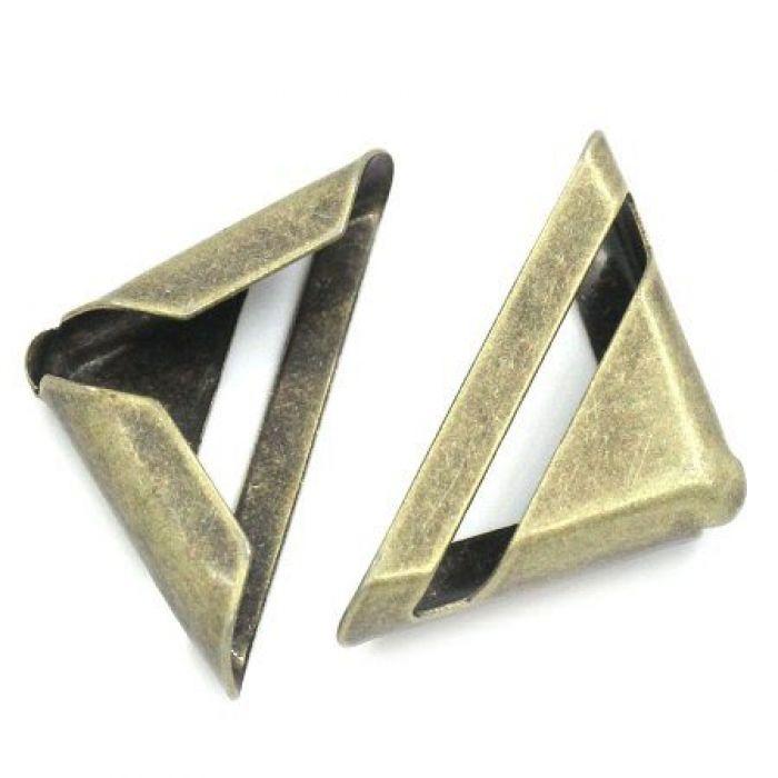 Уголок треугольник античная бронза для скрапбукинга
