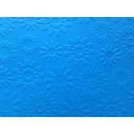 Ярко-голубая бумага с тиснением цветы