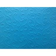 Ярко-голубая бумага с тиснением завитки