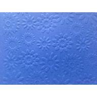 Ярко-синяя бумага с тиснением цветы