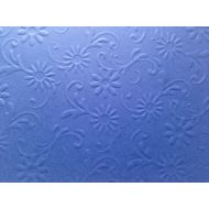 Ярко-синяя бумага с тиснением цветы с завитками