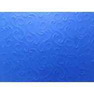Ярко-синяя бумага с тиснением завитки