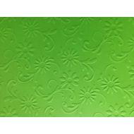 Ярко-зелёная бумага с тиснением цветы с завитками