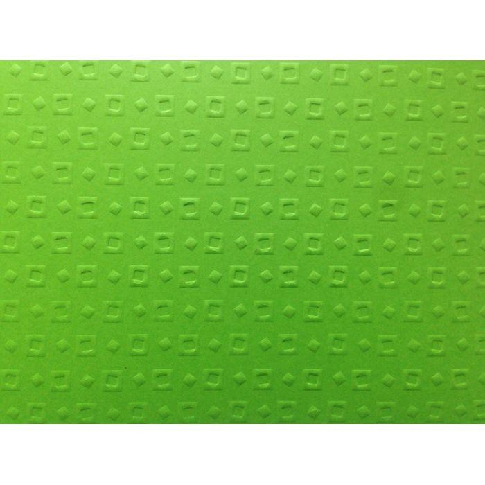 Ярко-зелёная бумага с тиснением кубики для скрапбукинга