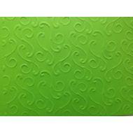 Ярко-зелёная бумага с тиснением завитки