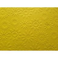 Ярко-жёлтая бумага с тиснением цветы