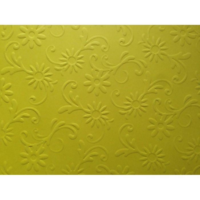 Ярко-жёлтая бумага с тиснением цветы с завитками для скрапбукинга