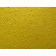 Ярко-жёлтая бумага с тиснением завитки
