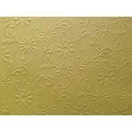 Жёлтая бумага с тиснением цветы с завитками