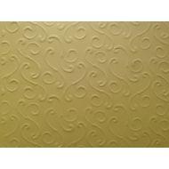 Жёлтая бумага с тиснением завитки