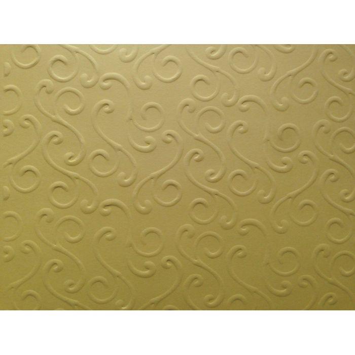 Жёлтая бумага с тиснением завитки для скрапбукинга