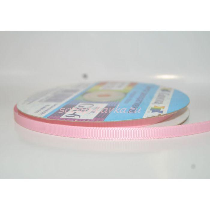 Лента репсовая бледно розовая для скрапбукинга