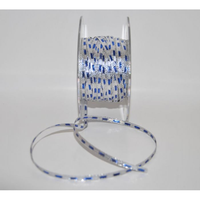 Лента синяя с люрексом для скрапбукинга