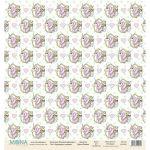 Бумага единороги в рамке, коллекция розовый единорог