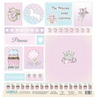Бумага карточки, коллекция розовый единорог