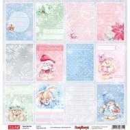 Бумага карточки, коллекция зимняя ягодка