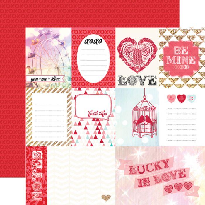 Бумага Love This, коллекция Lucky In Love для скрапбукинга
