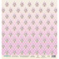 Бумага замок принцессы, коллекция розовый единорог