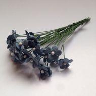 Цветочки маленькие серо-голубые 12 мм