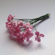 Цветочки маленькие розовые 12 мм