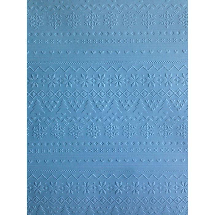 Голубая бумага с тиснением зимний свитер А4 для скрапбукинга