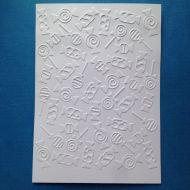 Конфетки, тисненый картон