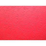 Красная бумага с тиснением бабочки А4