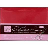 Красная заготовка для открытки 12,7х17,8 см