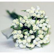 Кремовый декоративный букет