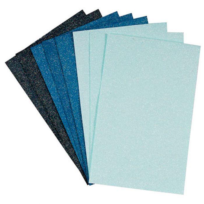 Набор бумаги с микроблестками Burleigh Blue для скрапбукинга
