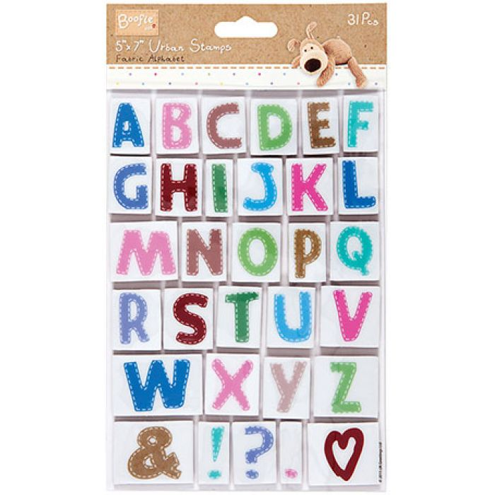 Набор штампов алфавит Boofle для скрапбукинга