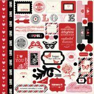 Наклейки, коллекция Words of Love