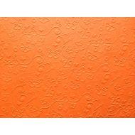 Оранжевая бумага с тиснением бабочки А4